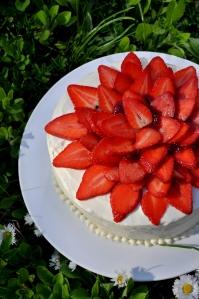 zemeņu kūka